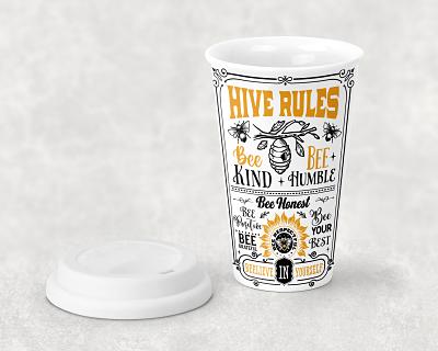 Bee Ceramic Travel Mug