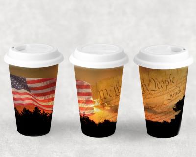 Patriotic Ceramic Travel Mugs