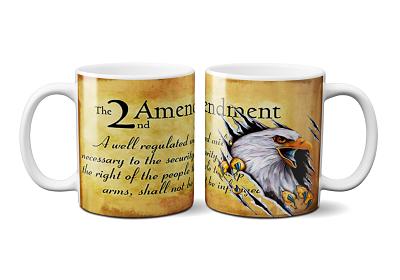 11 oz 2nd Amendment with American Eagle
