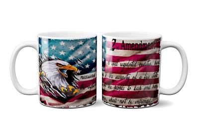 11 oz 2nd Amendment on the American Flag