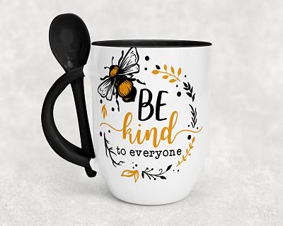 Bee Kind to Everyone Spoon Mug